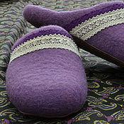 """Обувь ручной работы. Ярмарка Мастеров - ручная работа Тапочки """"Лавандовый прованс"""". Handmade."""