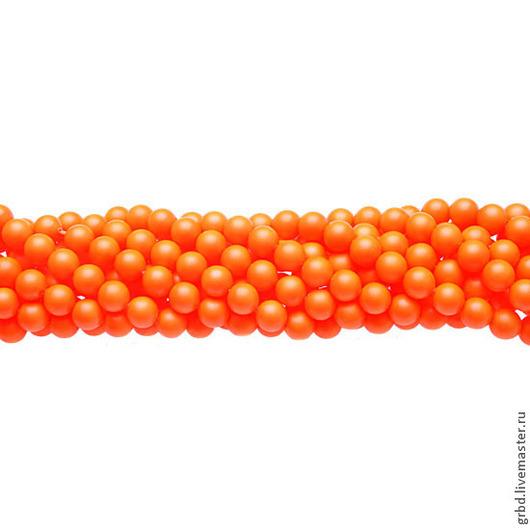 Для украшений ручной работы. Ярмарка Мастеров - ручная работа. Купить Жемчуг Сваровски 6 мм 5810 Neon orange (06-733). Handmade.