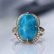 Украшения handmade. Livemaster - original item Undine ring with larimar and diamonds. Handmade.