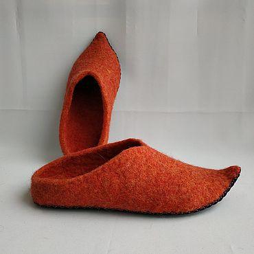 Footwear handmade. Livemaster - original item Slippers flip flops Oriental fairy tale coral. Handmade.