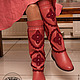 Обувь ручной работы. сапоги кожаные с вязанием Утро в Венеции. млета (mleta1). Интернет-магазин Ярмарка Мастеров. кожа натуральная