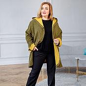 handmade. Livemaster - original item Italian Wool Cardigan Coat Oversize size 56. Handmade.