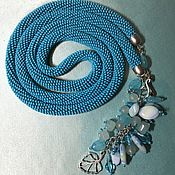 Украшения handmade. Livemaster - original item Harness turquoise bead Lariat. Handmade.