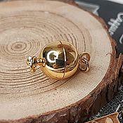 Материалы для творчества handmade. Livemaster - original item Magnetic lock 10mm gold plated (3965). Handmade.