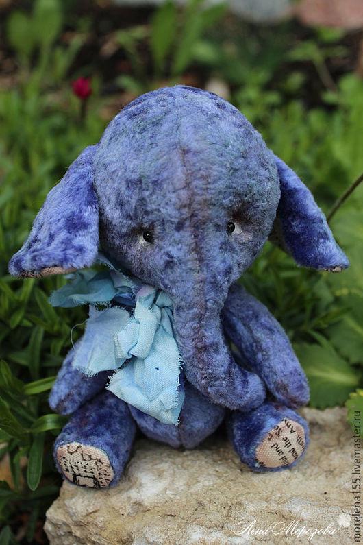 Мишки Тедди ручной работы. Ярмарка Мастеров - ручная работа. Купить Блу. Handmade. Синий, тедди слон, плюшевая игрушка