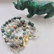 Украшения handmade. Livemaster - original item Bracelet SAVANNAH from Indian Jasper and quartz. Handmade.