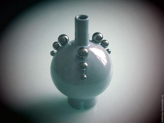 Вазы ручной работы. Ярмарка Мастеров - ручная работа. Купить керамическая ваза. Handmade. Голубой, керамика ручной работы, шарики