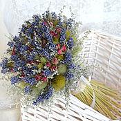 Цветы и флористика ручной работы. Ярмарка Мастеров - ручная работа «Роза Прованса» букет из сухоцветов. Handmade.