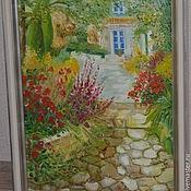 Картины ручной работы. Ярмарка Мастеров - ручная работа Полдень в саду. Handmade.