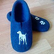 Обувь ручной работы. Ярмарка Мастеров - ручная работа Doggy - валяные тапочки. Handmade.