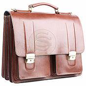 Сумки и аксессуары handmade. Livemaster - original item Men`s leather briefcase
