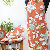 Для дома и интерьера handmade. Livemaster - original item Gift linen set Climbing roses. Handmade.
