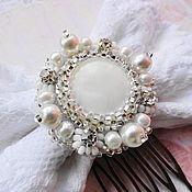 Свадебный салон handmade. Livemaster - original item Comb Lace bow. Handmade.