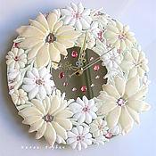 Для дома и интерьера ручной работы. Ярмарка Мастеров - ручная работа часы из стекла, фьюзинг  Зефир с Ванилью. Handmade.