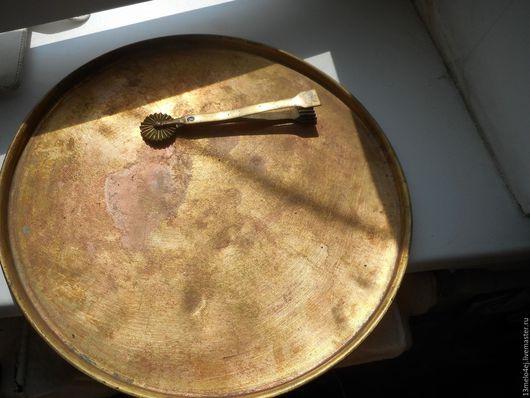 Реставрация. Ярмарка Мастеров - ручная работа. Купить латунный поднос под самовар. Handmade. Поднос, латунь