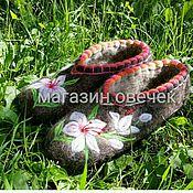 Обувь ручной работы. Ярмарка Мастеров - ручная работа Тапочки Лилии. Handmade.