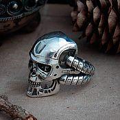Украшения handmade. Livemaster - original item Ring The Terminator T-800. The Terminator.  The skull of the robot. bronze silver.. Handmade.