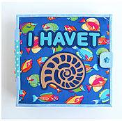 """Кубики и книжки ручной работы. Ярмарка Мастеров - ручная работа Развивающая книжка """"В океане"""". Handmade."""