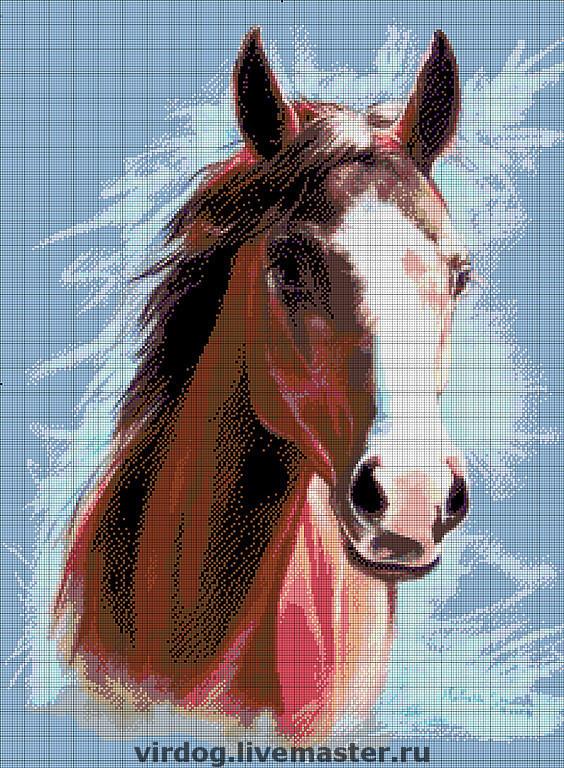 Конь, авторская схема