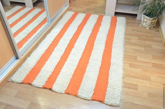 Текстиль, ковры ручной работы. Ярмарка Мастеров - ручная работа. Купить Коврик из овечьей шерсти KB040B. Handmade. комбинированный