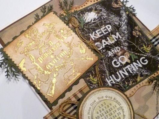 """Открытки для мужчин, ручной работы. Ярмарка Мастеров - ручная работа. Купить Открытка """"На рыбалку с охотой"""". Handmade. поздравительная открытка"""