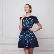 Одежда ручной работы. Ярмарка Мастеров - ручная работа Бархатное платье с вышивкой.. Handmade.