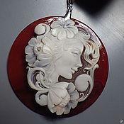 Украшения ручной работы. Ярмарка Мастеров - ручная работа Кулон из сердолика с камеей. Handmade.