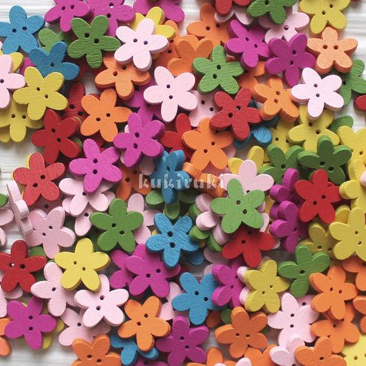 """Шитье ручной работы. Ярмарка Мастеров - ручная работа. Купить Пуговицы деревянные """"Цветочек"""". Handmade. Пуговицы, пуговицы для скрапбукинга, цветок"""