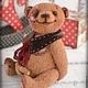 Мишки Тедди ручной работы. Ярмарка Мастеров - ручная работа. Купить Друг Сердешный для Светланы, авторский мишка тедди. Handmade.