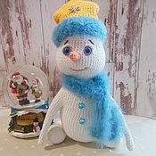 Куклы и игрушки ручной работы. Ярмарка Мастеров - ручная работа Снеговичок, снеговик вязаный, новый год. Handmade.