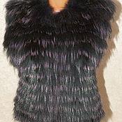 Одежда ручной работы. Ярмарка Мастеров - ручная работа Жилет меховой из енота. Handmade.