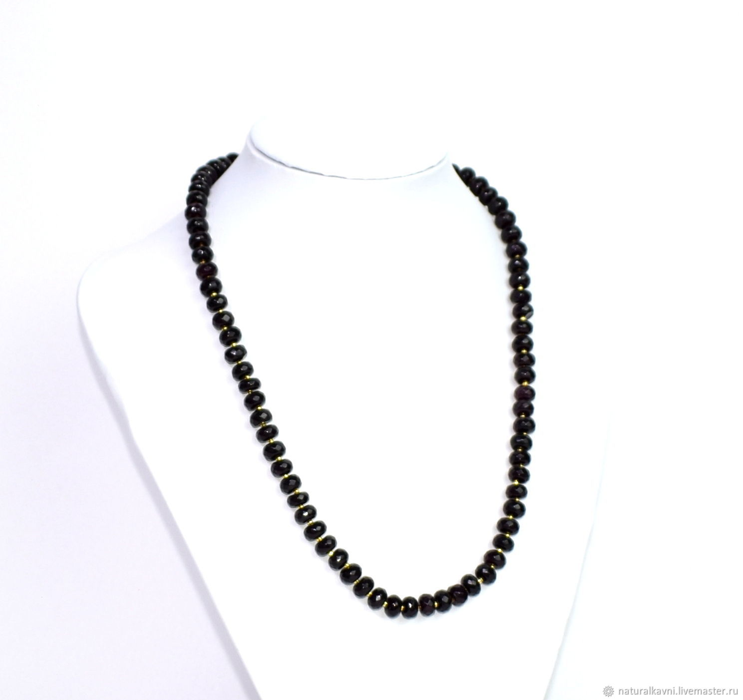 Necklace / beads made of natural stone garnet almandin, Necklace, Moscow,  Фото №1