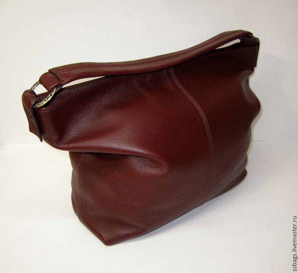 Bag-a soft bag with rings. Women's leather handbag, Sacks, St. Petersburg,  Фото №1