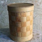 Сувениры и подарки handmade. Livemaster - original item birch bark basket with netting. Handmade.