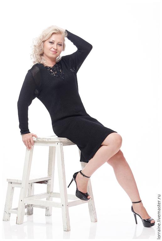 Платье женское `Orchid` от Lorraine Woolheart. Авторская модель 2015 года. Lorraine Woolheart.  Состав: Вискоза Размер: XL Цвет: Черный