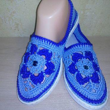 Обувь ручной работы. Ярмарка Мастеров - ручная работа Слипоны Метелица. Handmade.