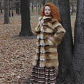 Одежда ручной работы. Ярмарка Мастеров - ручная работа Пальто из Меха Лисы. Handmade.