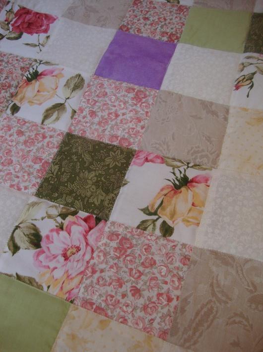 Текстиль, ковры ручной работы. Ярмарка Мастеров - ручная работа. Купить Лоскутное одеяло. Handmade. Кремовый, лоскутное шитье, интерьер