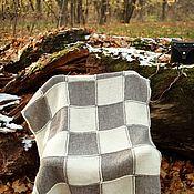"""Пледы ручной работы. Ярмарка Мастеров - ручная работа Плед связанный из эко-пряжи """"Шахматы"""", чистая шерсть.. Handmade."""
