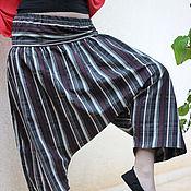 Одежда ручной работы. Ярмарка Мастеров - ручная работа Штаны Алибаба полосатые. Handmade.