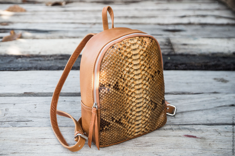 Рюкзак из кожи питона школьные рюкзаки school point
