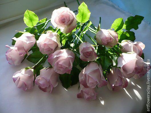 Цветы ручной работы. Ярмарка Мастеров - ручная работа. Купить Букет роз из полимерной глины. Handmade. Розовый