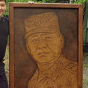 Картины и панно ручной работы. Ярмарка Мастеров - ручная работа Тиснёный портрет на коже (пример). Handmade.