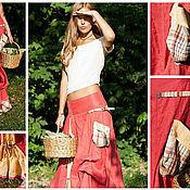 """Одежда ручной работы. Ярмарка Мастеров - ручная работа юбка из льна """"Палома"""". Handmade."""