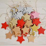 """Подарки к праздникам ручной работы. Ярмарка Мастеров - ручная работа Деревянная гирлянда """"Звездная"""", новогодняя гирлянда из дерева. Handmade."""