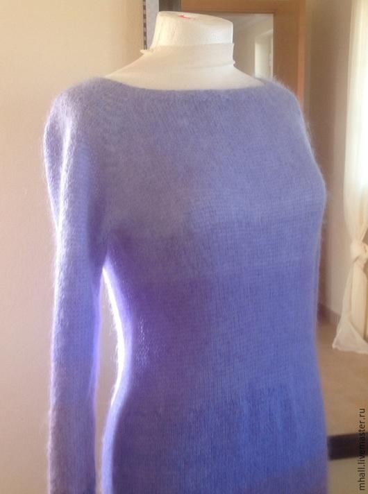 Платья ручной работы. Ярмарка Мастеров - ручная работа. Купить Аметисты -длинное платье-градиент из кид-мохера. Handmade. Сиреневый