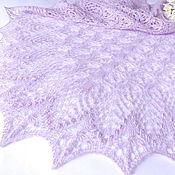 Аксессуары handmade. Livemaster - original item shawl openwork knit lilac bouquet (the gossamer shawl knitted). Handmade.