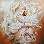 Картины и панно handmade. Livemaster - original item Peonies Tenderness - painting on canvas. Handmade.
