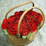 """Классическая сумка ручной работы. Ярмарка Мастеров - ручная работа Кожаная сумка """"Корзина с розами"""". Handmade."""