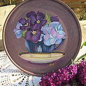 """Для дома и интерьера ручной работы. Ярмарка Мастеров - ручная работа Тарелка """"Цветочный чай"""". Handmade."""